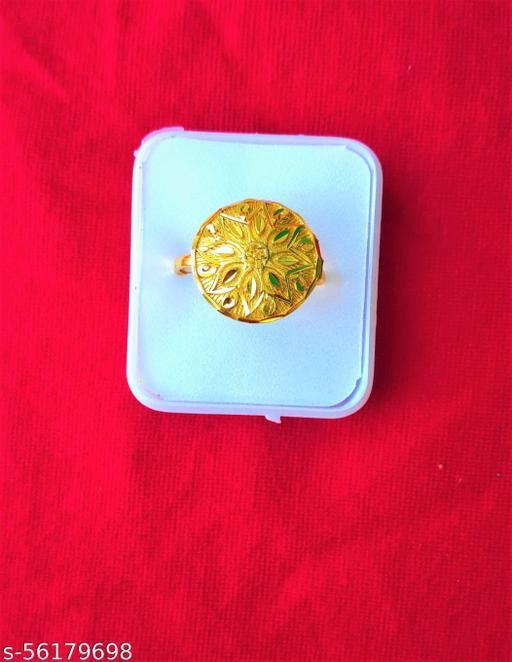 Set Of 2 Gold-Plated Adjustable Finger Rings