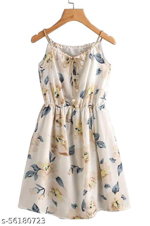 STOFFVILLA  Women cotton lycra Fit and Flare Dress