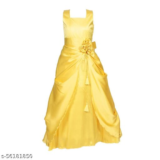 Klowvila Fashion Girls Maxi/Full Length Party Ethnic Gowns (Sleeveless)