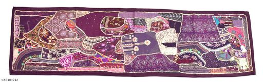 Vintage Theme Indian culture fashioned Table Runner fine threadwork. i17-202