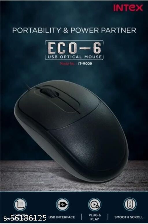 Intex IT-M009 Wired Optical Mouse (USB 2.0)