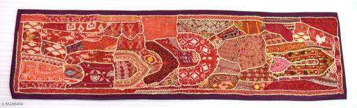 Vintage Hand Embroidered Zari Work Table Runner Ethnic Decorative. i17-206