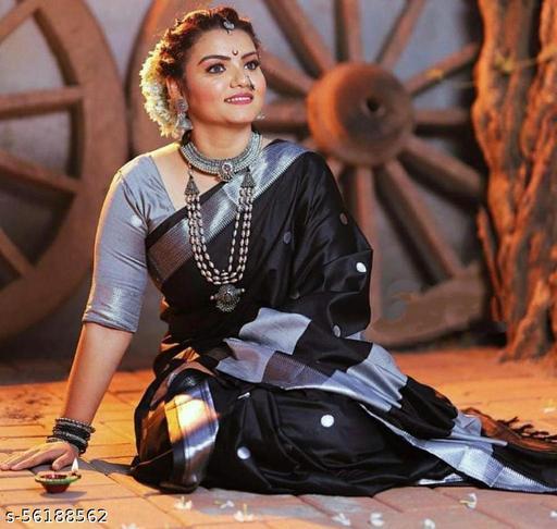 Original Paithani saree design soft cotton silk saree With Blouse