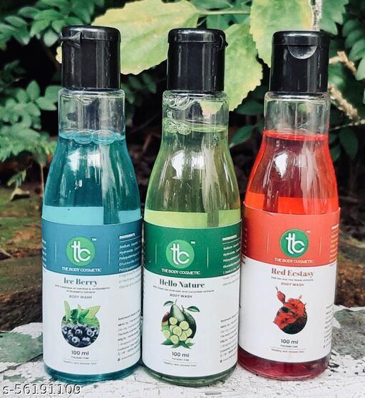 Bodywash Combo Pack of 3 with Menthol , Green Tea and Red Tea Extracts