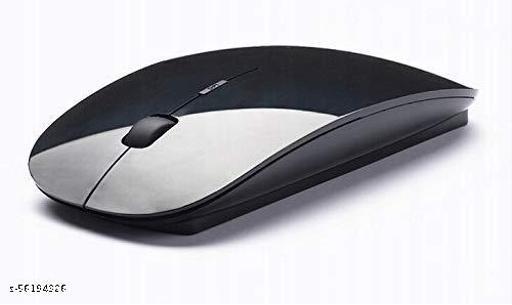 WETEK Slim Wireless Mouse for Laptop, 2.4Ghz Portable Compatible Mouse for Desktop, Computer, Laptop,Camera,etc ( Black )