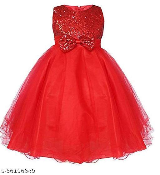 Klowvila Fashion Girls Maxi/Full Length Party Dress(Sleeveless)