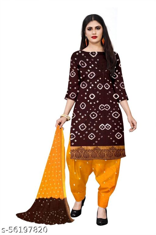 Cotton Bhandej Suit Material