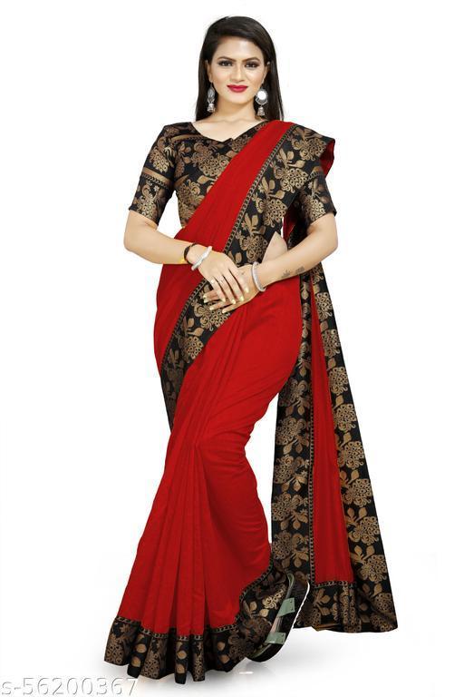 Self Design Jacquard Lace border Chanderi cotton Saree