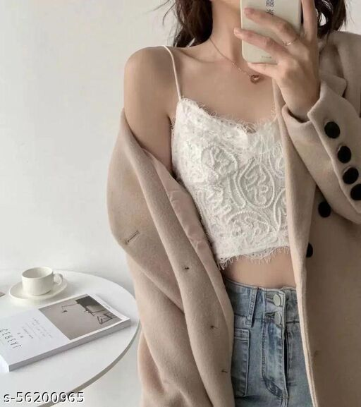 trendy imported camisole crop top