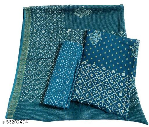 Grassroot Galery Women's BATIK Cotton Dress Material