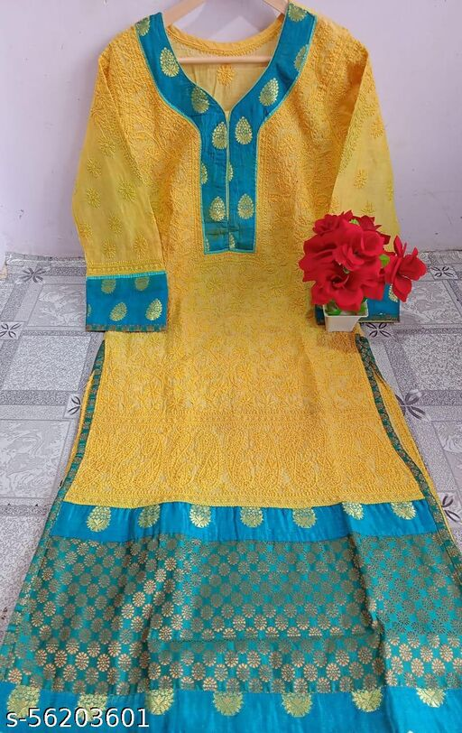 cotton kurti hand work length 46 MD $