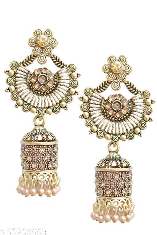 Foisty Fancy Stylish Traditional Ethnic Party Wear Jhumki Earrings for Womens & Girls