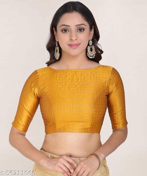 Oomph! Jacquard High Back Blouse - Yellow - rbbl03