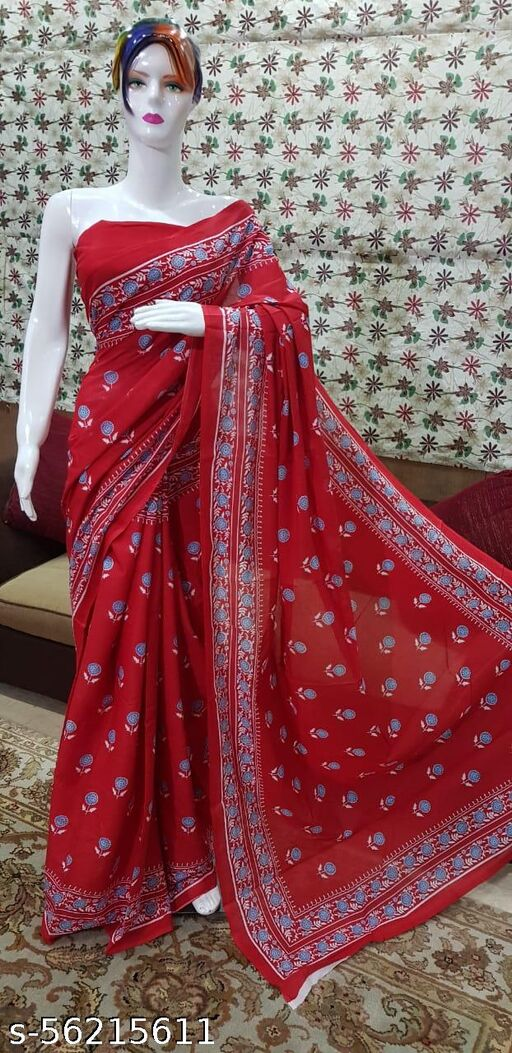 Ethnic Saree with Blouse Piece
