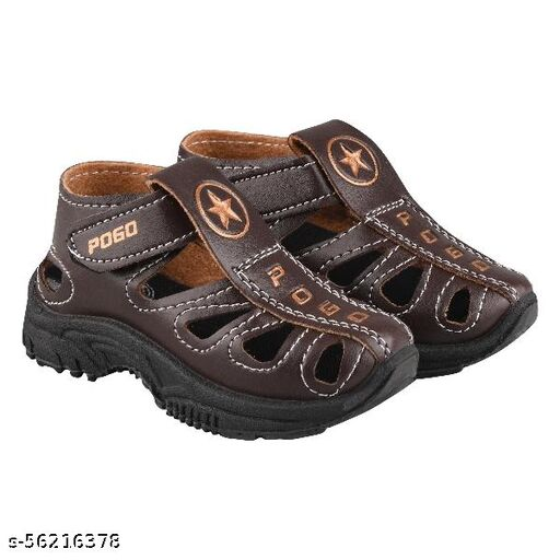 Velcro Sports Sandals For Boys & Girls (Brown)