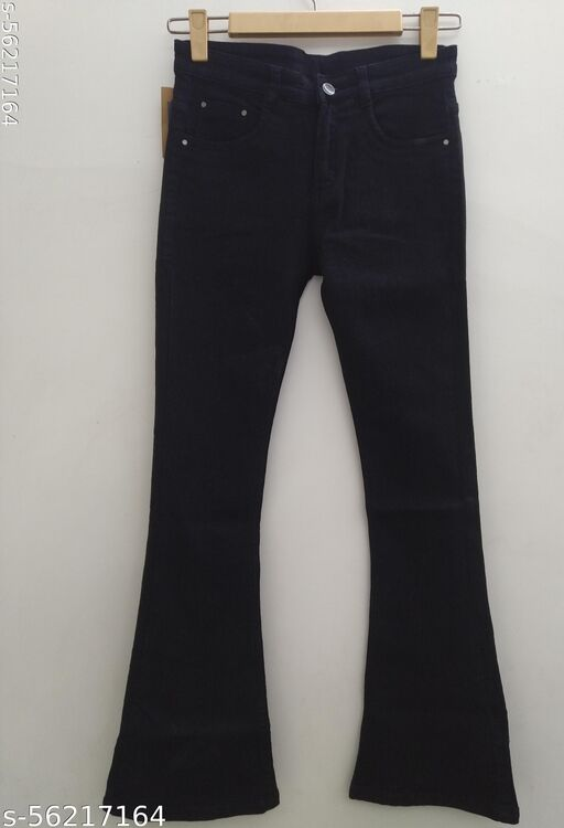 Women Flared Hem Jeans