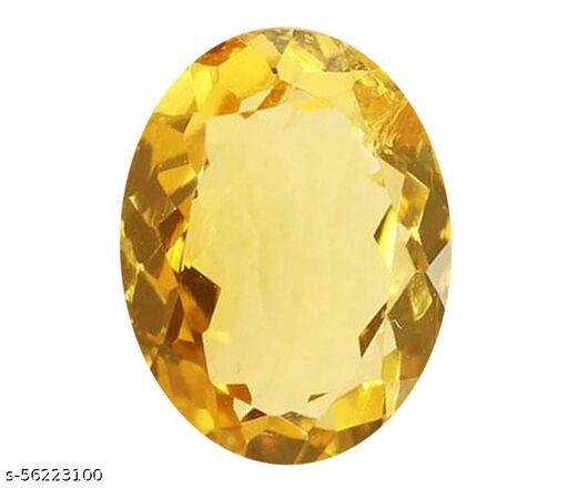 Maanvi Gems & Stones Synthetic Stone Topaz Original Certified 9.19 Ratti with Lab Report Certificate Natural Jamunia Stone for Men & Women
