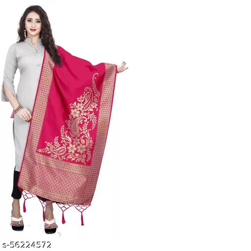 Deetya Fashion Present Heavy Jecquard Dupatta/Chunni The pretty look and comfortable feel of this dupatta