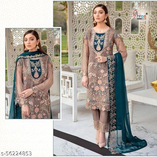 Shree Fabs georgette with heavy embroidery  Salwar Suit Material