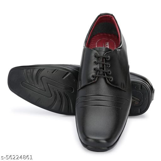 PETER U.S.A Office Formal Shoes Lace Up For Men  (Black)