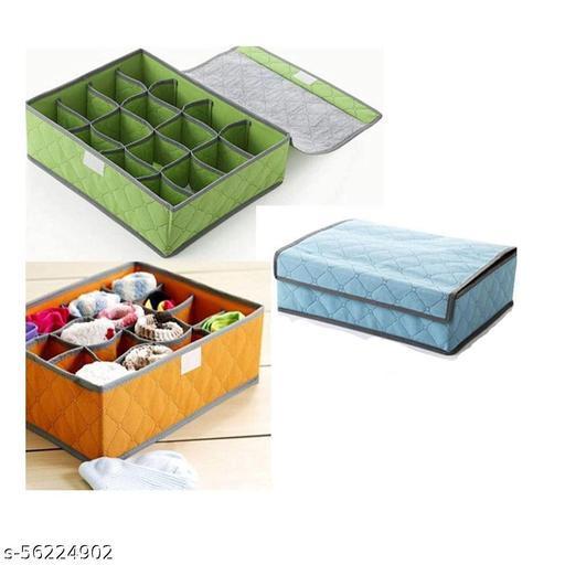 Styxon / 24 grid soks closet Container Drawer Foldable Storage Box,Neck Ties Scarves,Socks Bra Underwearorganizer box - multi-color