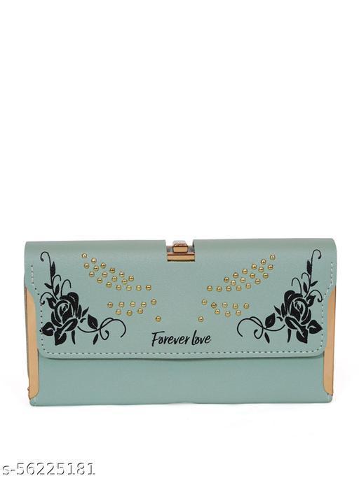 Women Casuel Blue Wallet