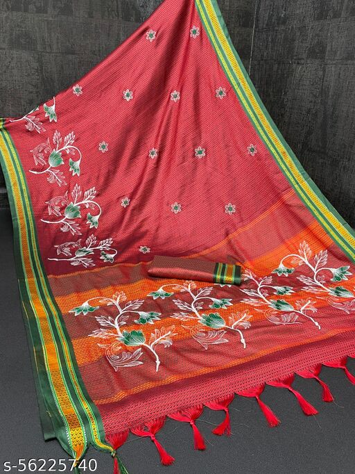 Antara khan saree with embroidery work