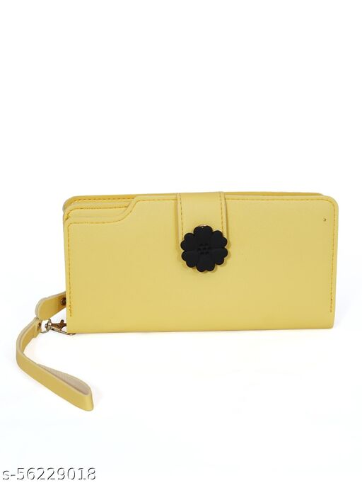 Women Casuel Yellow Wallet