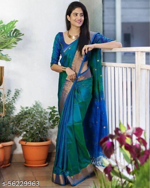 OMEGA SYSTEM Women Silk Saree
