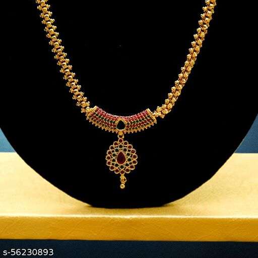 SAI SRI COLLECTIONS Gold plated Pendant Necklace Stylish For Womens And Girls