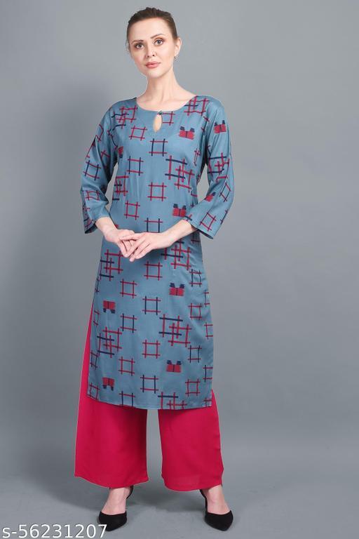 Saanchi Boutique Women Casual Printed Straight Kurti