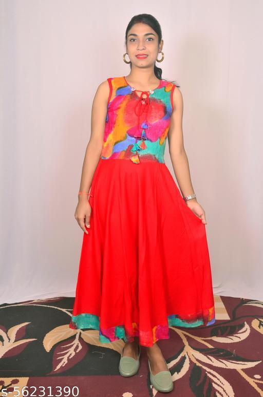 long type gown kurti
