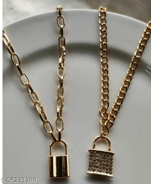 Lock Necklace Combo