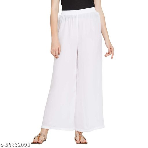 Rayon Palazzo with Elastic for Women's