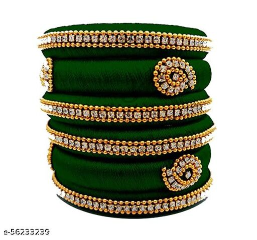 silk dori thread bangles set of 6