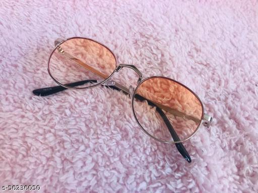 Yu Fashions Orange Lens Round Sunglasses