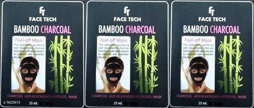 Face Trendy Face Tech Face Mask Combo  *Product Name* Face Tech Bamboo Charcoal Face Pack  *Product Type* Face Pack  *Capacity* 25 ml Each  *Brand* Face Tech  *Multipack* 3  *Sizes Available* Free Size *    Catalog Name: Trendy Face Tech Face Mask Combo CatalogID_842046 C51-SC1241 Code: 061-5623613-