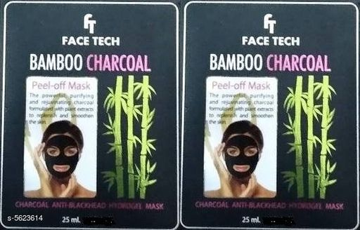 Face Trendy Face Tech Face Mask Combo  *Product Name* Face Tech Bamboo Charcoal Face Pack  *Product Type* Face Pack  *Capacity* 25 ml Each  *Brand* Face Tech  *Multipack* 2  *Sizes Available* Free Size *    Catalog Name: Trendy Face Tech Face Mask Combo CatalogID_842046 C51-SC1241 Code: 521-5623614-