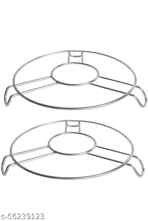 Stainless steel hot pan trivet, table stand ring (pack of 2)