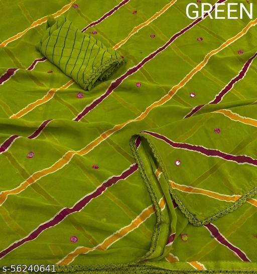 Roy Fash Gerogette Lehariya sarees with aari work and arco lace border