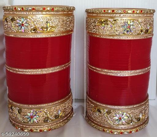 Bridal chuda with Rose Gold Stone (Artical -936) Bangle Set