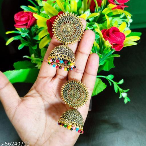 Traditional Pearl Jhumka/Jhumki Earrings For Girls and Women Party Wear Jhumki Earrings (Multicolor)