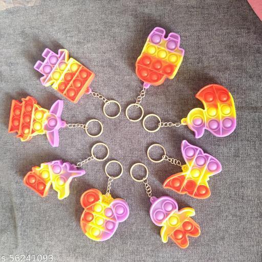 POP IT KYE  CHAIN 3 PCS  (Random Colour & Design003) 003 PCS