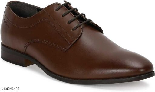 AWESOME  Men Genuine Leather Formal Shoes  BROWN