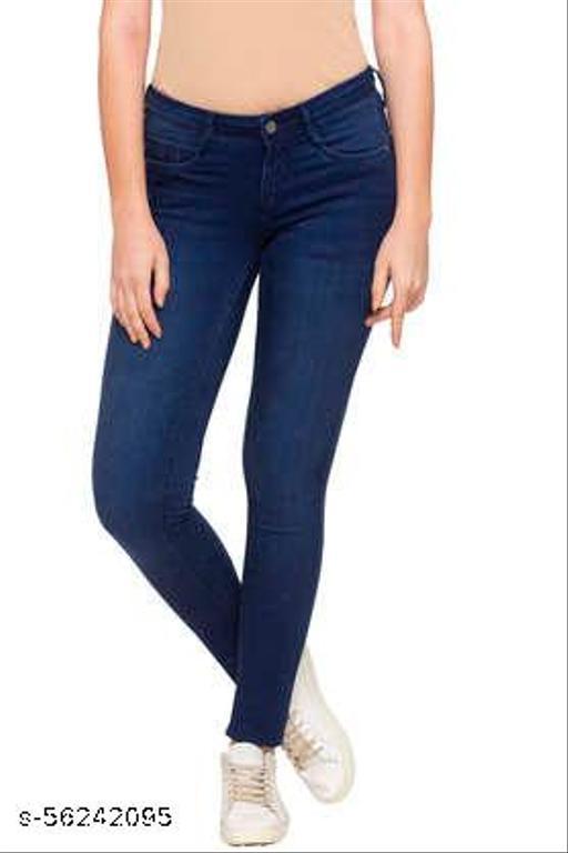 Stylish Women Navy Blue Stretchable Jeans