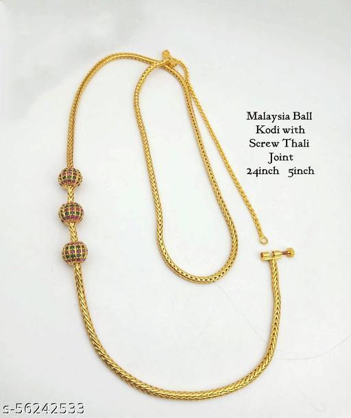 Premium Quality Mugappu Mopu Necklace Chain With Thali Kodi