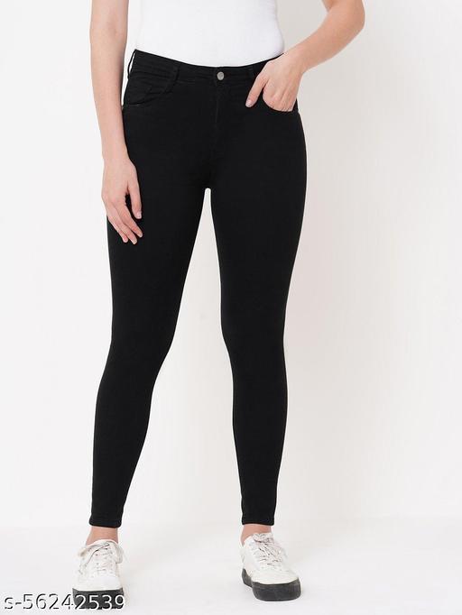 Stylish Women Black Stretchable Jeans