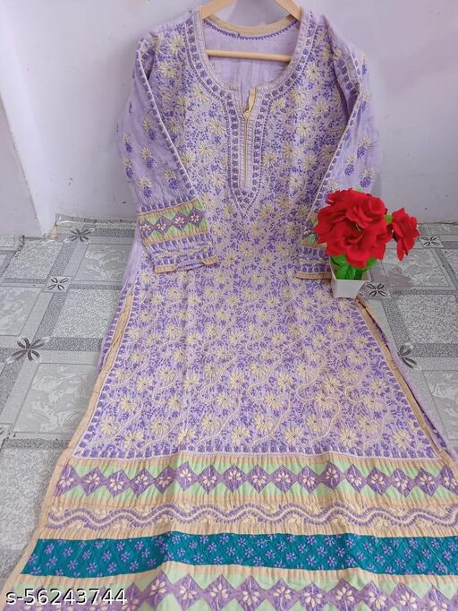 cotton kurti hand work MD £