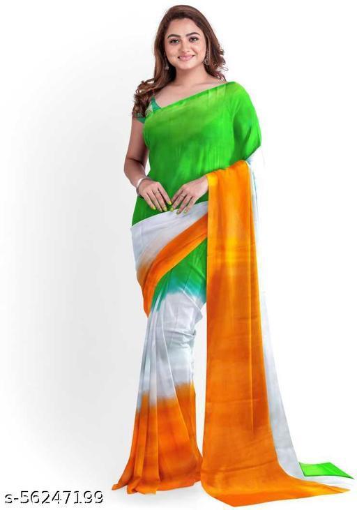 Jumki Fashion Attractive Crepe Saree With Brocade Blouse Piece