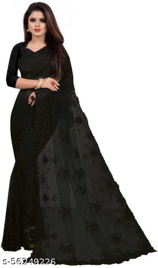 Disha Black Saree